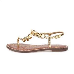 Sam Edelman Gold Link 6.5 Sandals